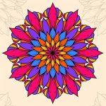 צביעת פרחי מנדלה