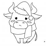 פרה עם כובע של סנטה