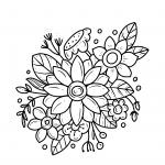 דף צביעה של פרחים יפים