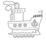דף צביעה על אונייה ענקית