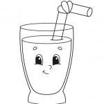 כוס עם קש דף צביעה