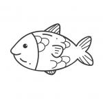 דף צביעה דג בים