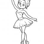 דף צביעה בלרינה רקדנית