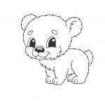 דף צביעה של דובון חמוד