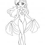 דף צביעה של נסיכה רקדנית