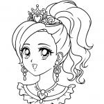 דף צביעה של נסיכה אצילית